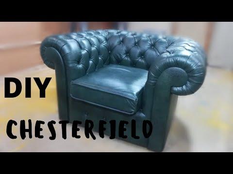 КРЕСЛО Chesterfield своими руками мебель DIY( 2 часть )