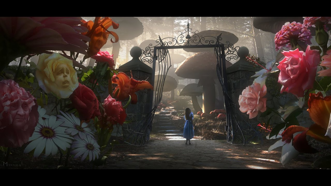 Disney Alice in Wonderland The Thomas Kinkade Company