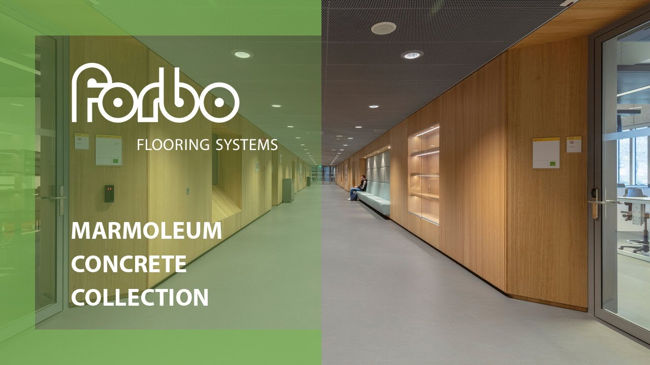 Forbo flooring systems linoleum uni teaser marmoleum concrete