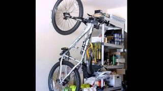 Racor B-1R Solo Vertical Bike Rack; bike wall storage, horizontal bike rack wall