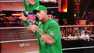 Raw: John Cena Calls Out The Rock After Their Match At WrestleMania 28