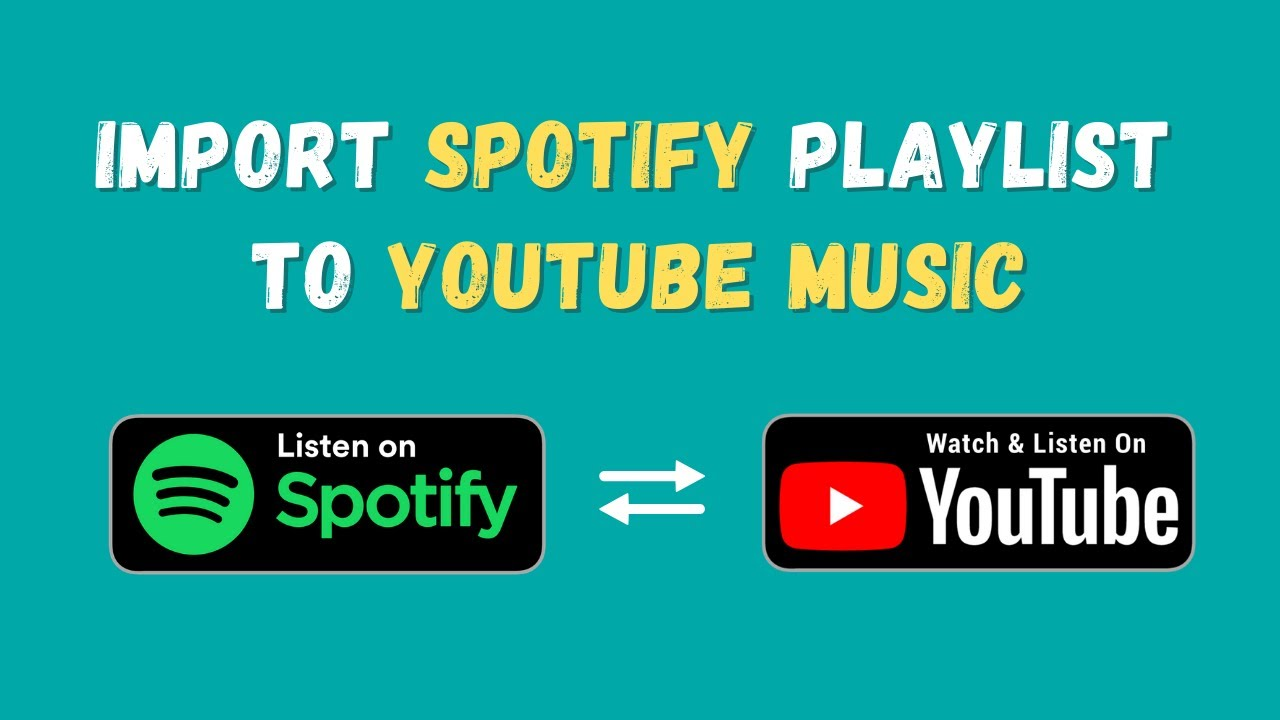 Transfer Spotify Playlists To Youtube Or Youtube Music Or Vice Versa Youtube