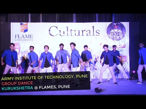 Energetic Bollywood Dance by Army Inst of Tech at FLAME Uni Pune