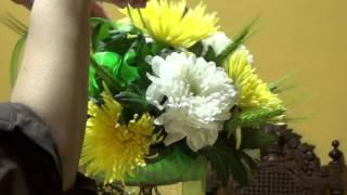 Букет из хризантем для козерога / Урок №25