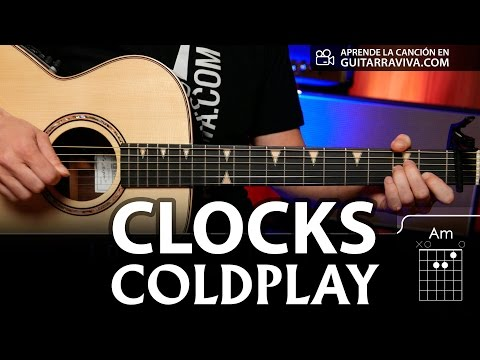 Clocks de Coldplay - Acordes para guitarra   Guitarraviva tutorial de ...