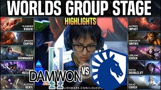 DWG vs TL Highlights Worlds 2019 Group Stage Day 1 - Damwon vs Team Liquid Highlights Worlds 2019