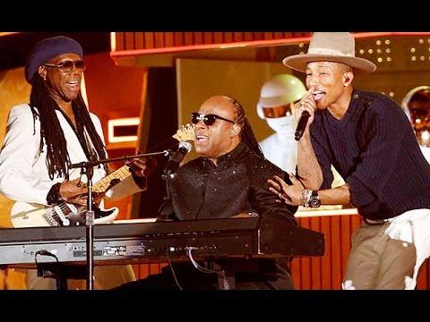 Pharrell, Daft Punk, NILE RODGERS, and STEVIE WONDER: GRAMMY Awards 2014 Live