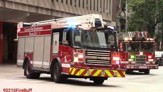 Chicago Fire Dept. Engine 42, Squad 1, & Truck 3 Responding