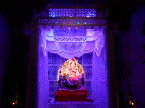 Ganpati Decoration With Light Effect 2017 At Home Nandoskar