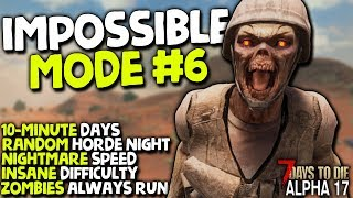 BETTER ZOMBIE DEFENCE! - Impossible Mode (GFM8) #6 | 7 Days to Die (2019 Alpha 17.2)