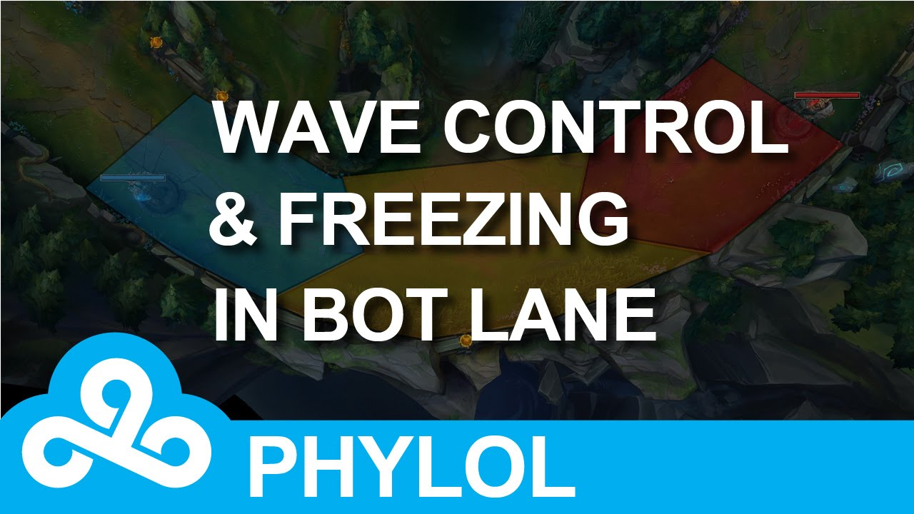 Wave control and freezing in bot lane - How and Why