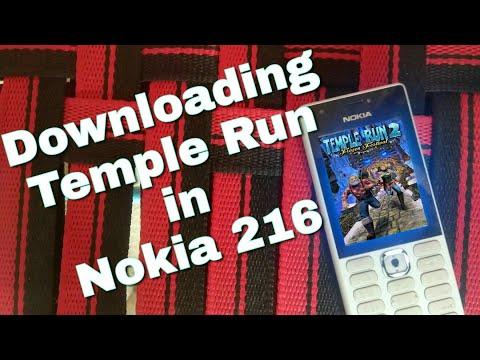Downloading Temple Run in Nokia 216 (Nokia phones) in Hindi.