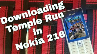 Downloading Temple Run in Nokia 216 (Nokia phones) in Hindi.
