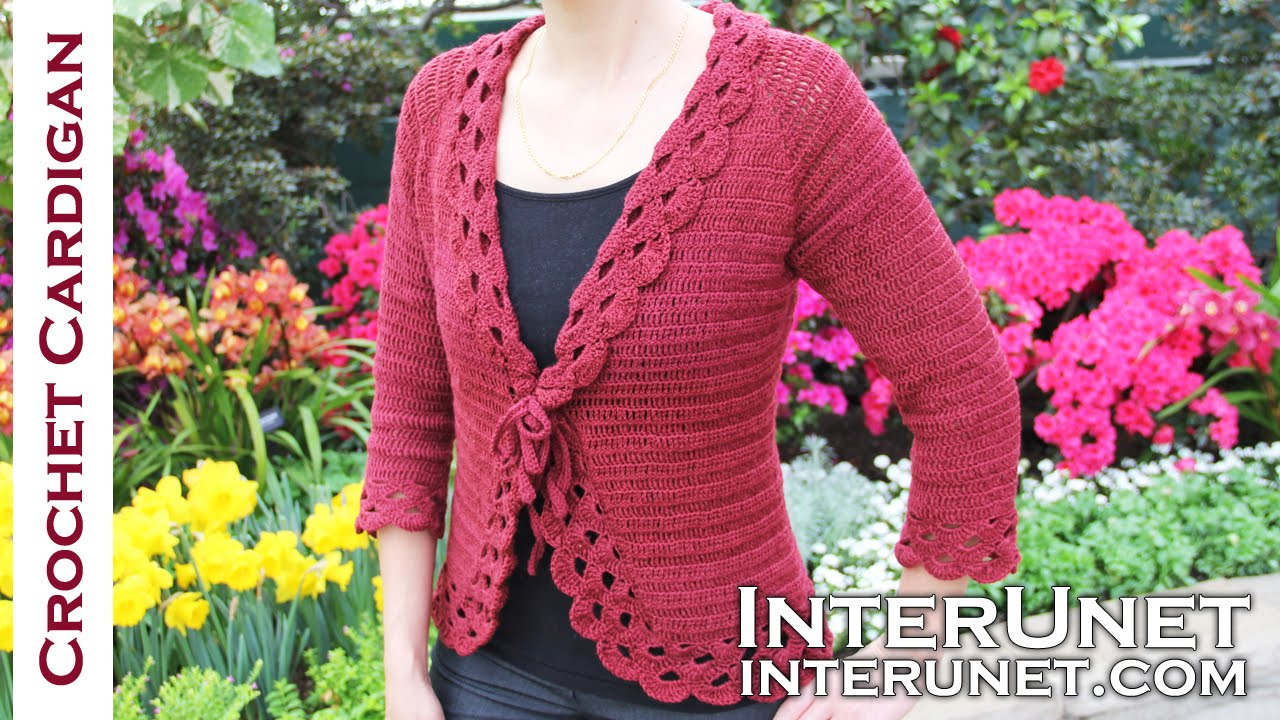 Crochet triple stitch cardigan jacket. Part 2 of 2 - YouTube