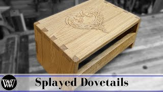 Making a Carved Splayed Leg Step Stool