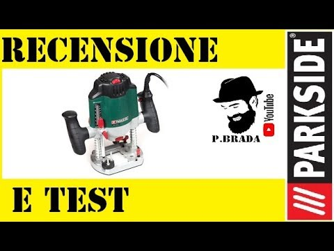 recensione e test fresatrice parkside by paolo brada diy youtube. Black Bedroom Furniture Sets. Home Design Ideas