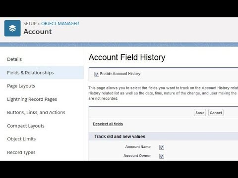 Salesforce Lightning: Field History Tracking