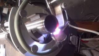 Orbital Welding Test with Open Head Using Polysoude PS204 Orbital TIG Welding Power Source