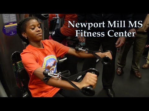 New Fitness Center at Newport Mill Middle School