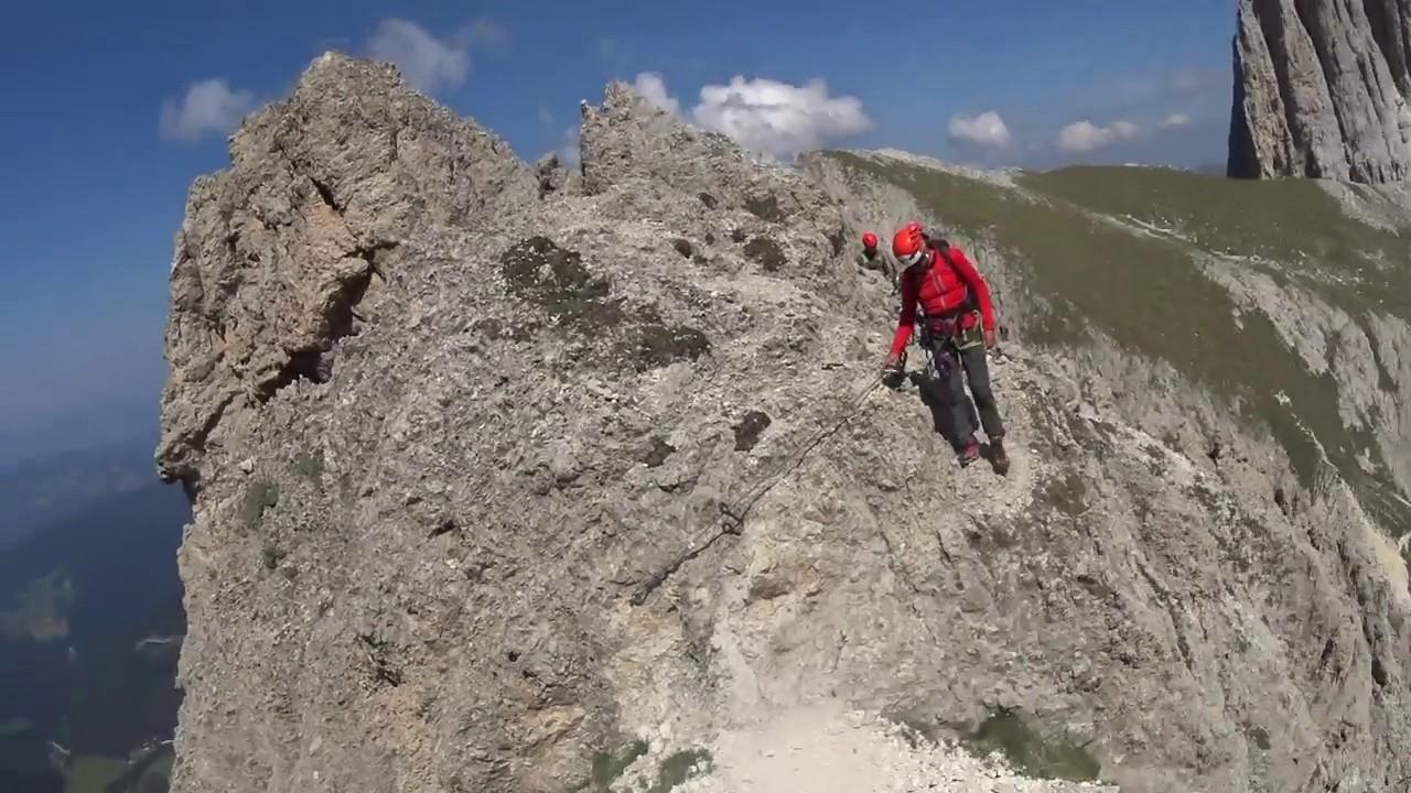 Klettersteig Rosengarten : Dolomiten rosengarten rotwand youtube
