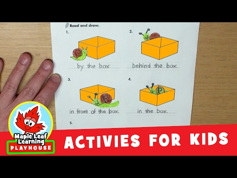 Sally Snail Prepositions Activity for Kids | Maple Leaf Learning Playhouse