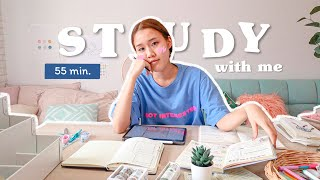Study With Me ep.3 (with music) อ่านหนังสือด้วยกันแบบ Real time 55 นาที l Peanut Butter