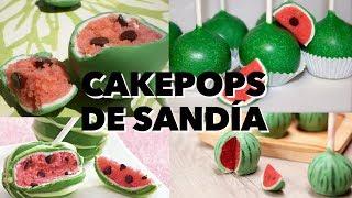 CAKEPOPS DE SANDÍA.  EXPECTATIVA/REALIDAD