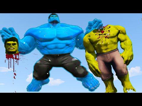 HULK VS BLUE HULK -  EPIC BATTLE  | Grand Theft Auto V
