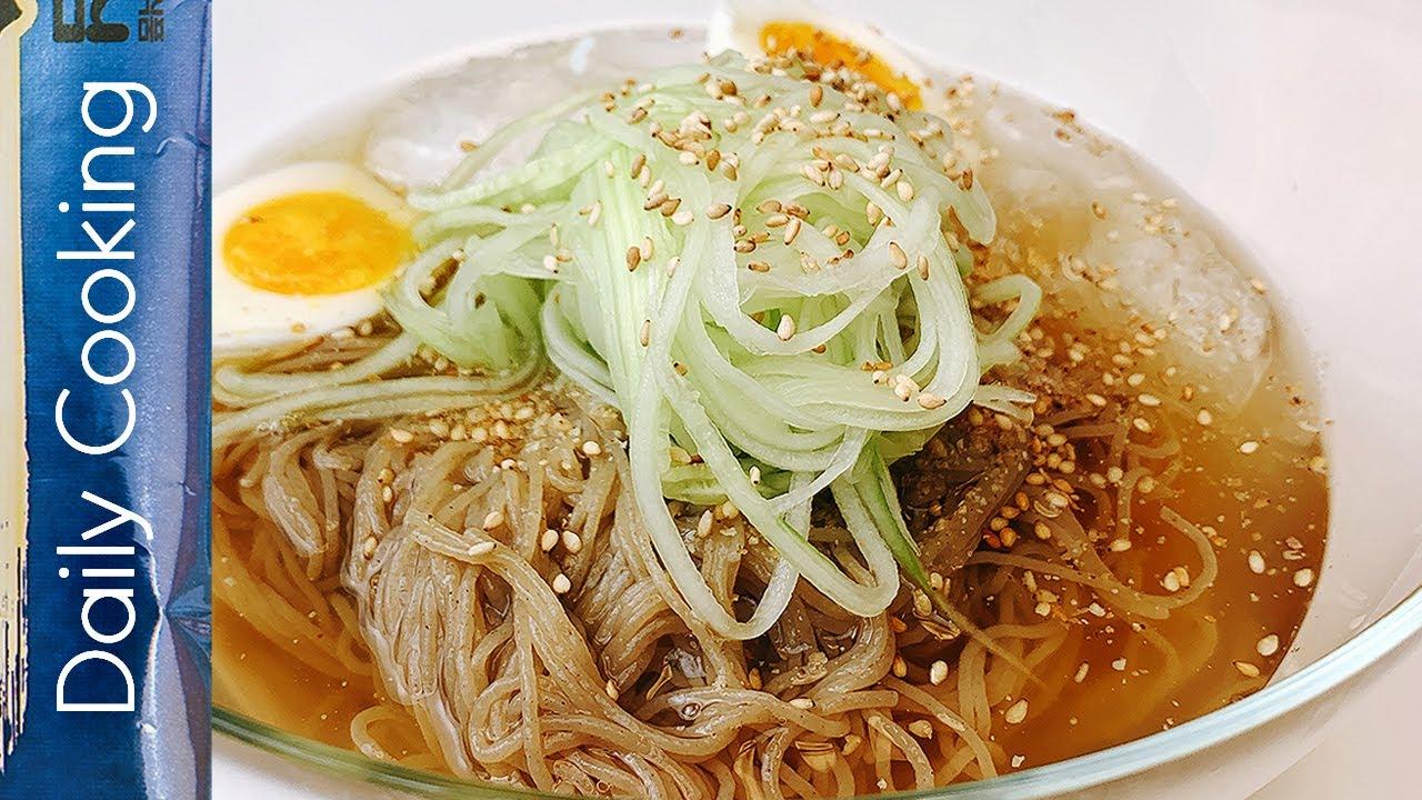 [생활요리/냉면] 냉라면 보다 맛있는 아삭달콤새콤 고소한 참깨 오이채 둥지 냉면 만들기! Cold Noodles with Sesame&Cucumber - Daily Cooking