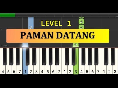 Not Piano Paman Datang Ciptaan At Mahmud - Tutorial Piano Tingkat 1 - Lagu Anak Anak
