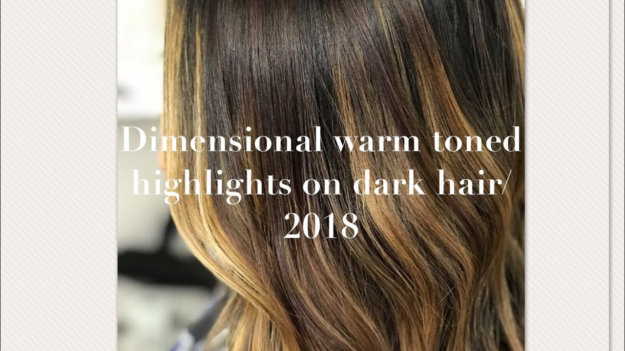 How To Dimensional Warm Toned Highlights On Dark Hairwatch And