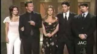 Cast of Friends at NBC Party 20022