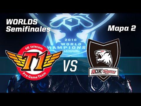 ROX TIGERS VS SKT TELECOM T1 - #WorldsSemis - World Championship 2016 - Mapa 2 - Semis