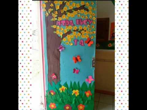 Decoraci n de puertas para marzo youtube for Puertas decoradas para guarderia