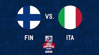 Finland vs Italy 2017 World Ball Hockey Championships in Pardubice, Czech Republic