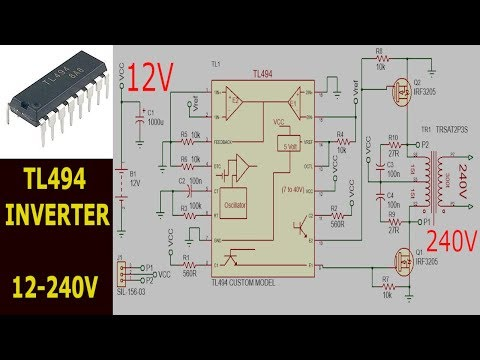High frequency Inverter - With TL494 52 Khz 1500w - Full circuit
