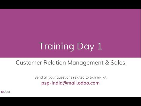 Day 1 / Odoo 9 - Functional Training in English, Online