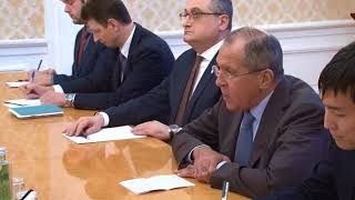 Переговоры С.В.Лаврова с Сон Ён Гилем, Москва, 13 октября 2017 года