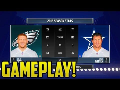 Madden 17 Dallas Cowboys vs Philadelphia Eagles Gameplay | All-Madden Difficulty