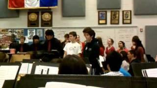 Boys singing Valentine