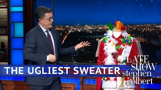 Stephen Colbert's Ultimate Christmas Sweater Can Be Yours!