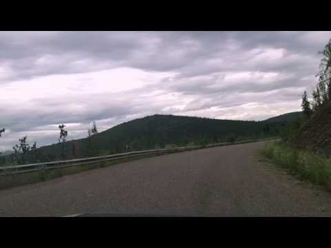 Drivelapse - Top of the World Highway - Dawson City, YT to Chicken, Alaska - Part 1