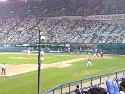 Samsung LIONS won against LG Twins today!