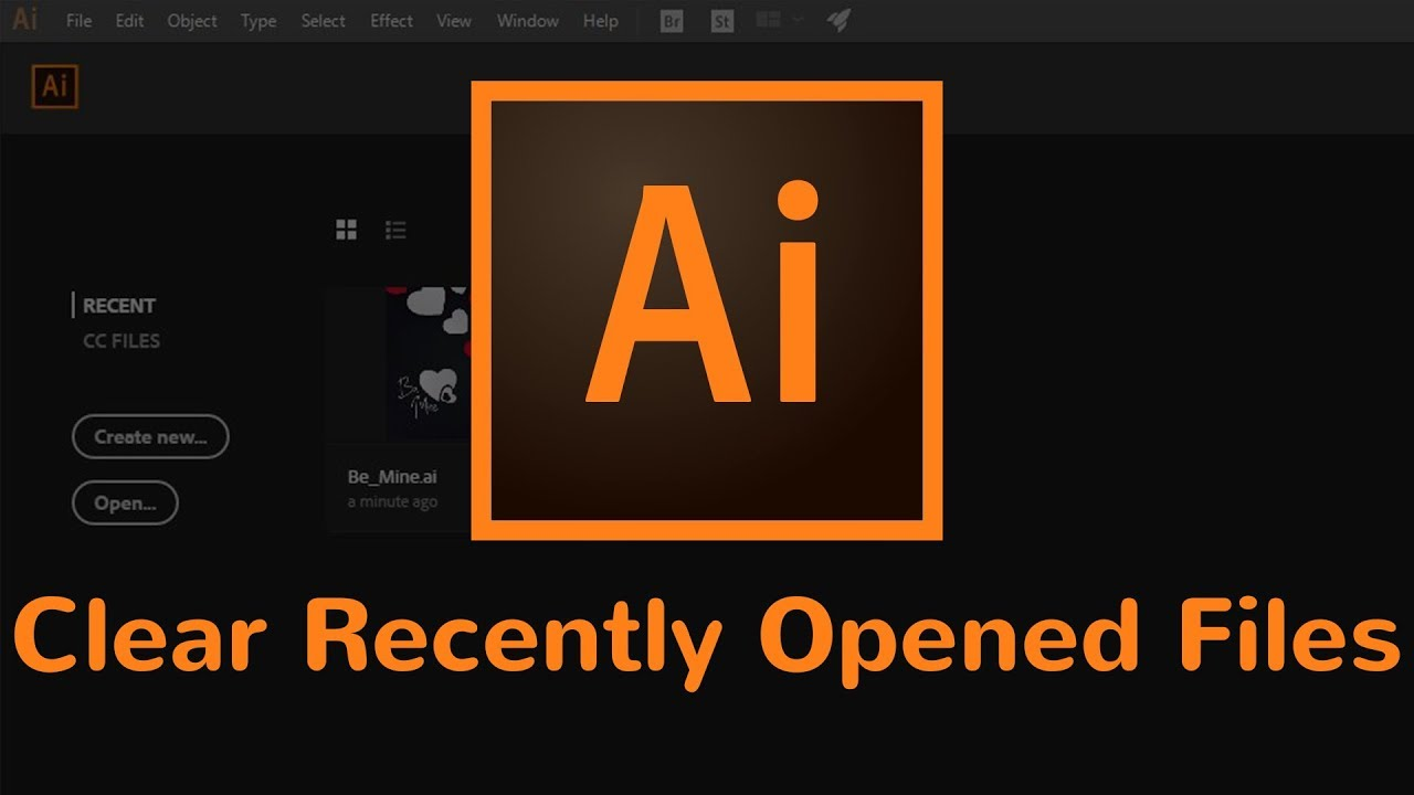 How to Clear the List of Recently Opened Files in Adobe Illustrator CC 2018
