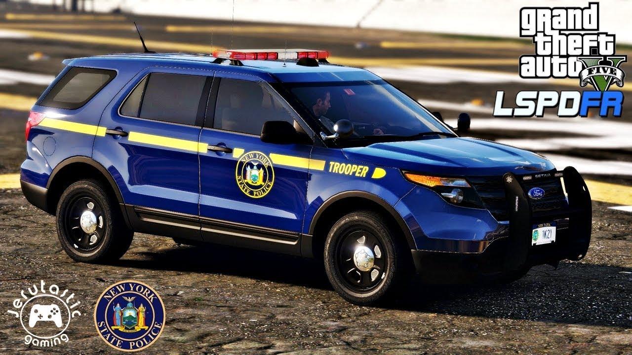 GTA 5 MODS LSPDFR #42- New York State Police Patrol (GTA 5 POLICE MOD)