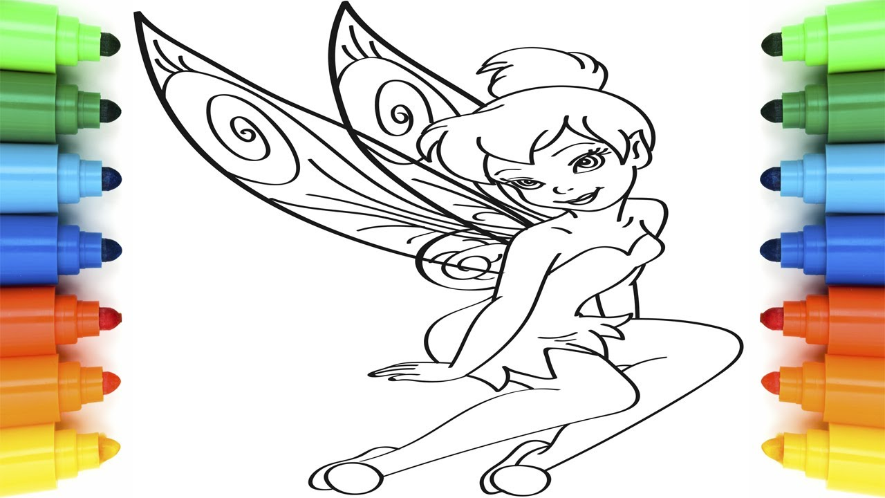 Coloring Pages Tinker Bell Learning Drawing For Kids