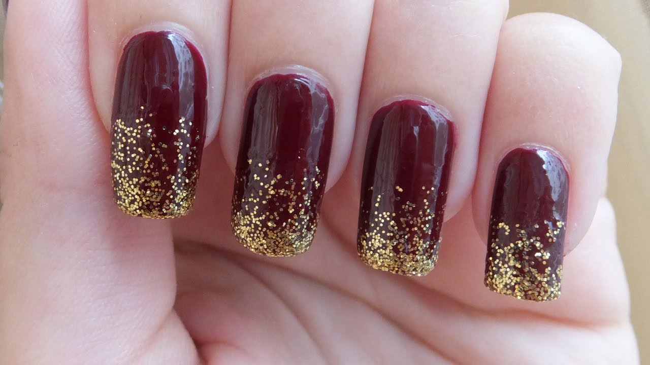 Easy And Fast Autumn / Fall Inspired Nail Art Design Tutorial - YouTube