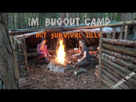 Tour mit Survival Lilly im Bugout Camp - Vanessa Blank in Austria - 4K