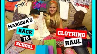 MARISSA'S BACK-TO-SCHOOL CLOTHING HAUL 2016