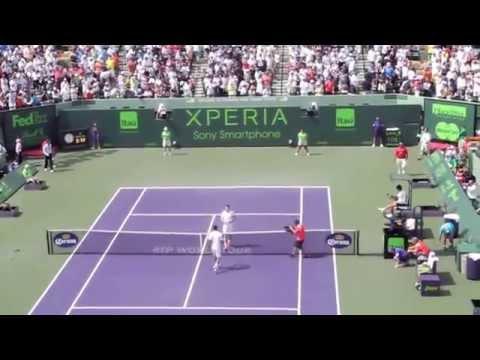Djokovic bounced de ball 29 times!! in Miami matchpoint